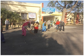 Cleanliness drive at admin office