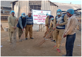 Cleaning activities at Lambing Sector
